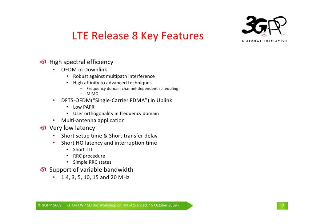 3gpp release 11 features