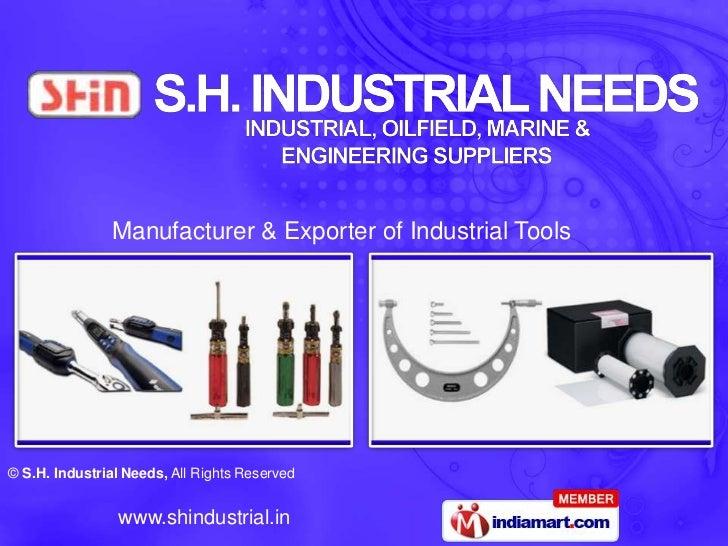 Manufacturer & Exporter of Industrial Tools<br />