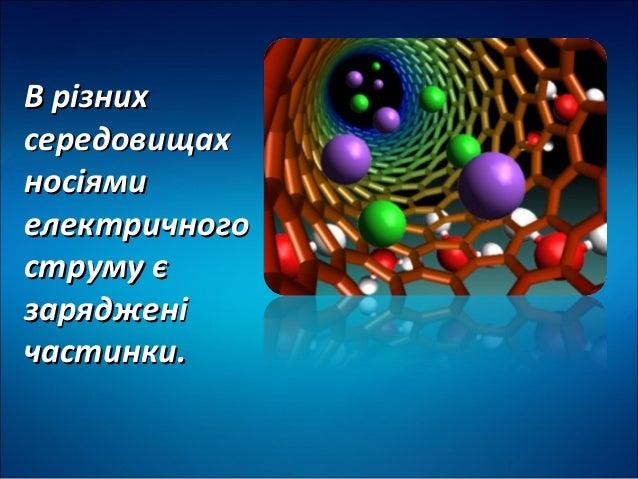 Електричний струм у різних середовищах Slide 2