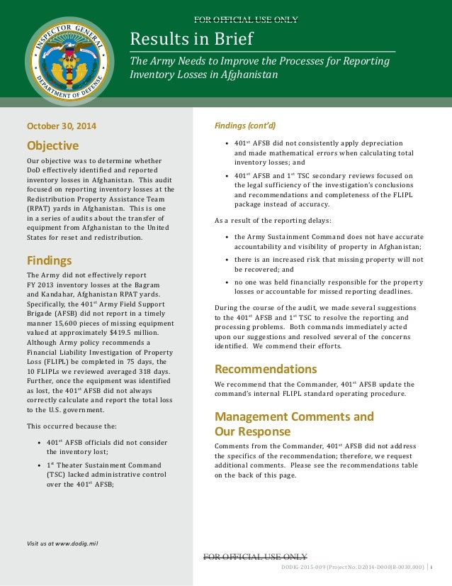 dod ig reports