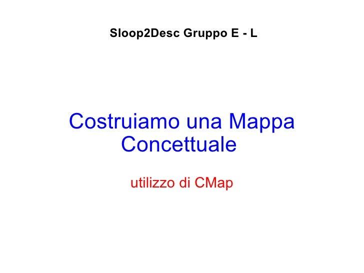 Costruiamo una Mappa Concettuale   utilizzo di CMap Sloop2Desc Gruppo E - L