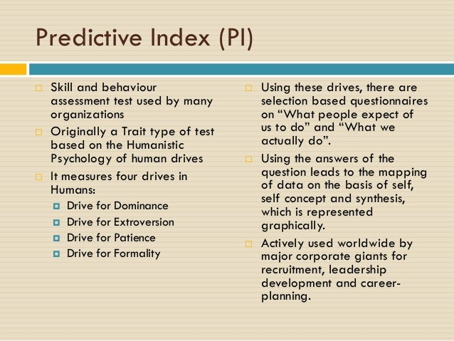 predictive index test sample pdf