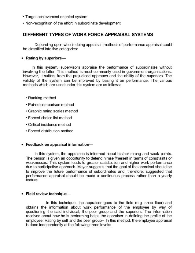 • Target achievement oriented system• Non-recognition of the effort in subordinate developmentDIFFERENT TYPES OF WORK FORC...