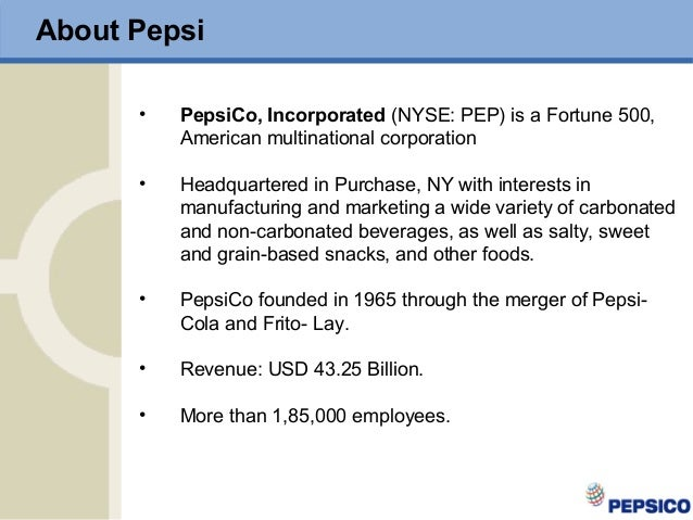 pepsi cola employee performance management Coca cola and pepsi both use the open style of communication where the management and staff are free to communicate with each other this enables issues facing the company to be aired and tackled within the earliest time possible.
