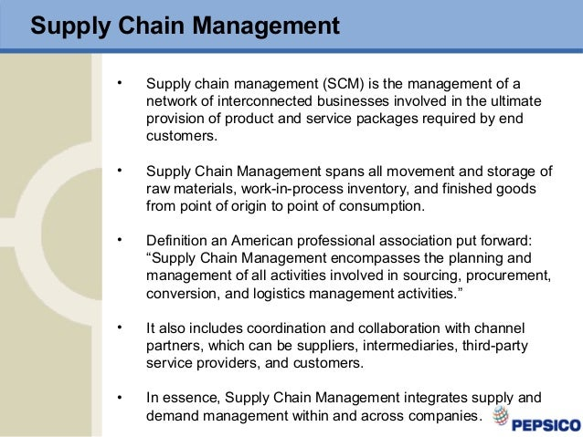 pepsi supply chain Another way that makes pepsico's supply chain unique is the way it packages their products over the past five years, pepsico has reduced the packaging weight of it's products by more than 350 million pounds.