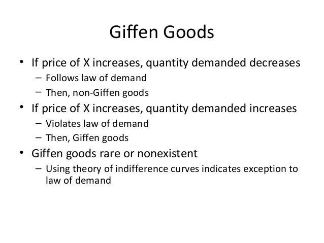 Define Giffen Good 1