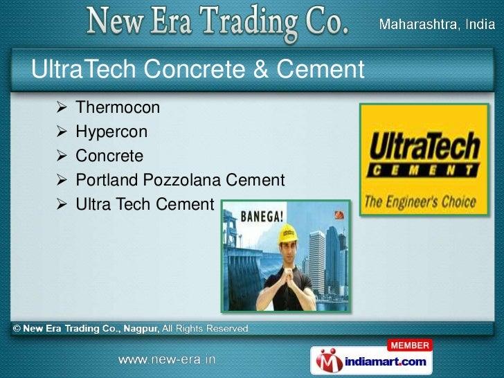 Portland Pozzolana Cement : New era trading co maharashtra india