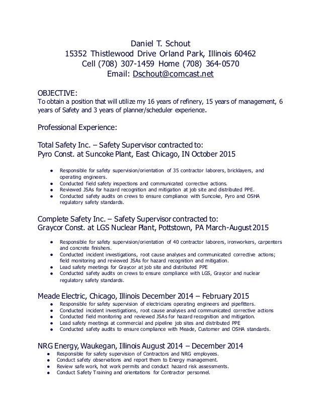 Daniel Schout\'s resume
