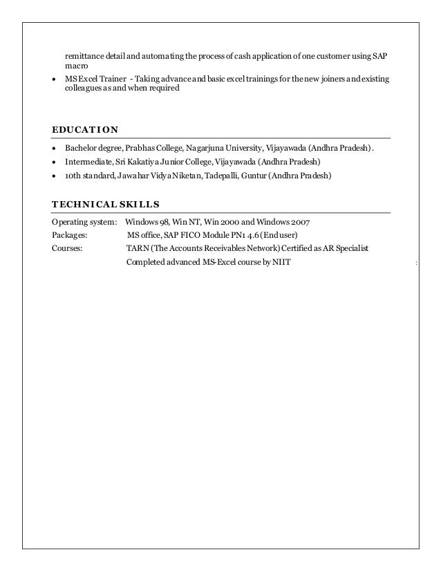 jeevan ar manager resume