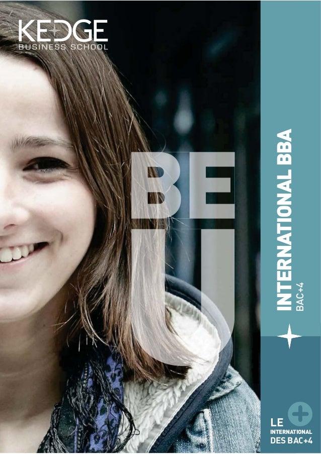 INTERNATIONALBBA BAC+4 LE INTERNATIONAL DES BAC+4