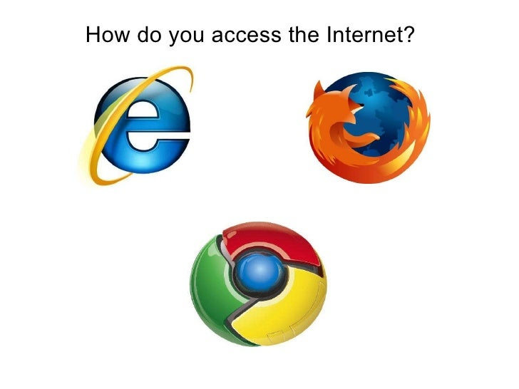 How do you access the Internet?<br />