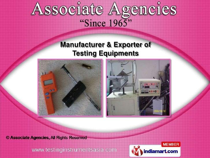 Manufacturer & Exporter of   Testing Equipments