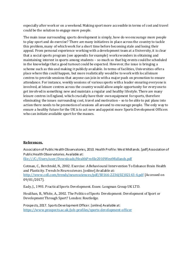 politics in sports essay