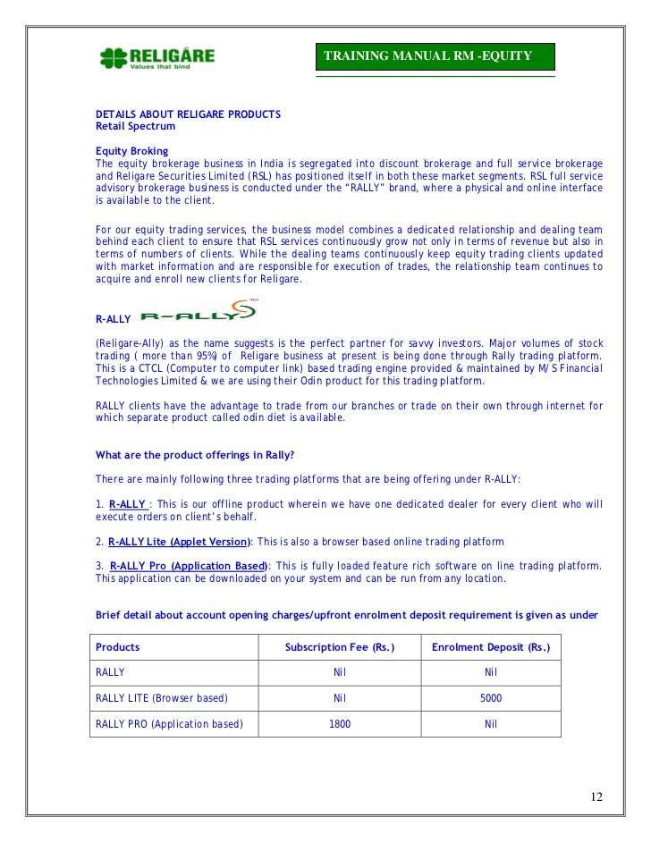 religare securities crn login