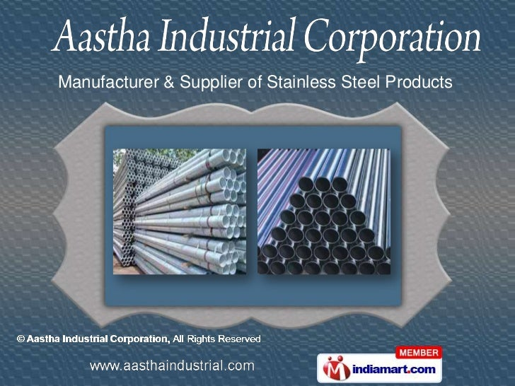 Manufacturer & Supplier of Stainless Steel Products