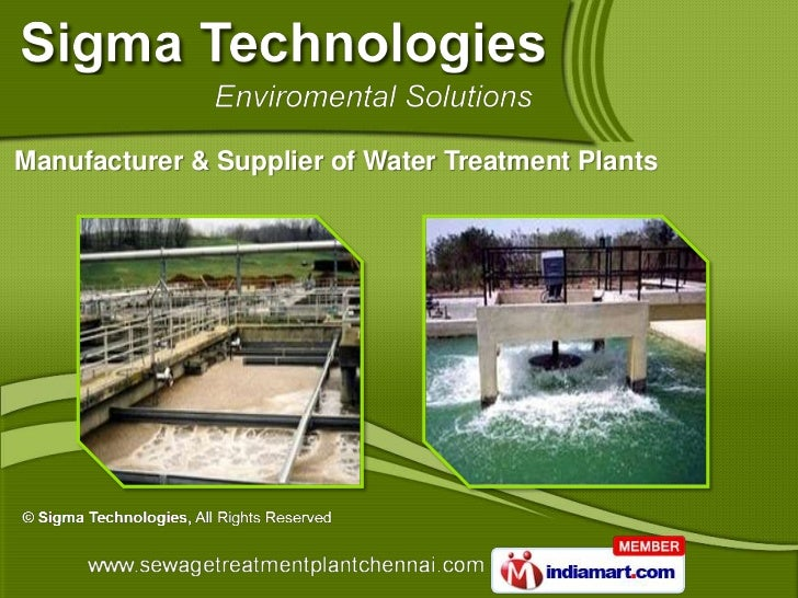 Manufacturer & Supplier of Water Treatment Plants
