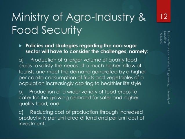 the role of agricultural sector as 4 analysing policies to improve agricultural productivity growth, sustainably: revised framework background 1 the food and agriculture sector is subject to a wide.