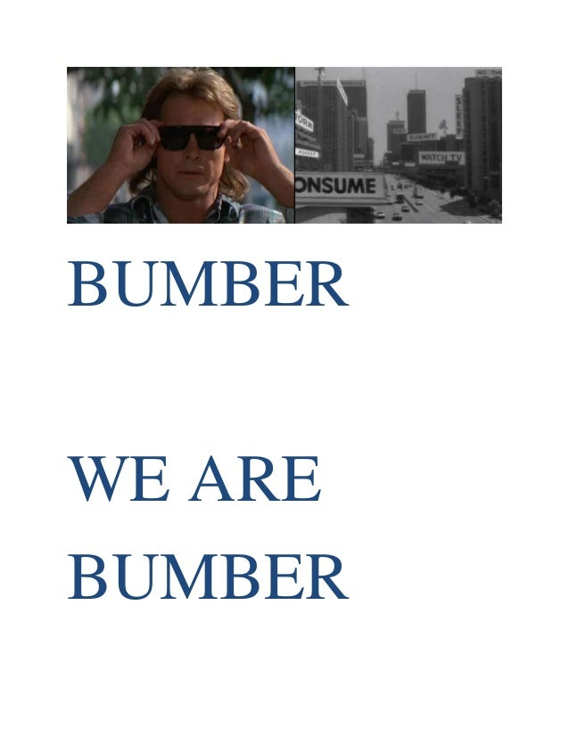 BUMBER WE ARE BUMBER