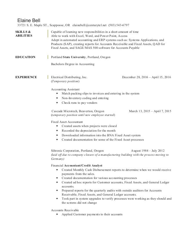 Colorful Temporary Work Experience On Resume Festooning - Example ...
