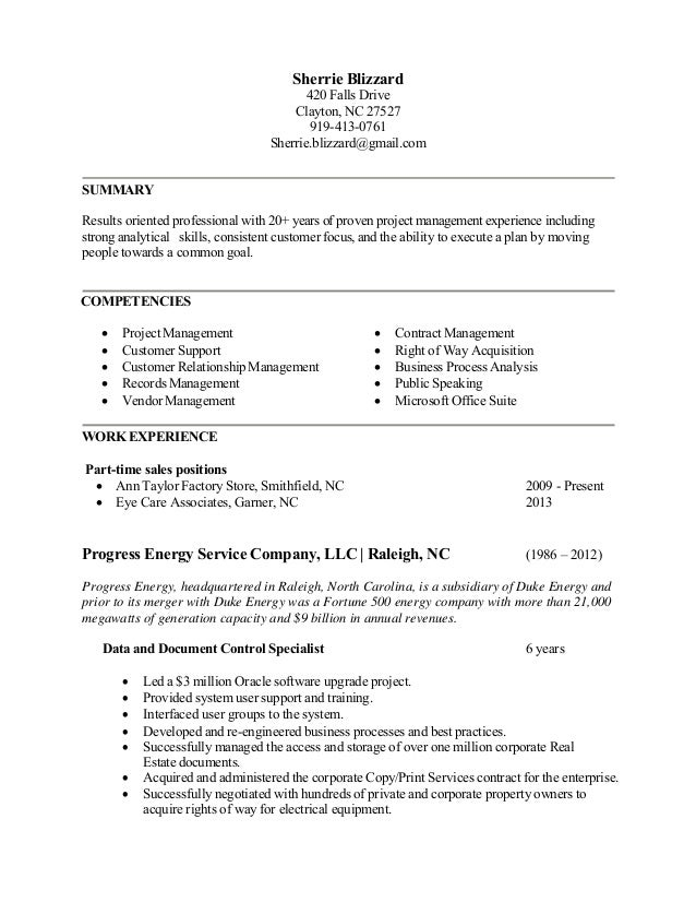 REVISED Resume Sherrie Blizzard_2015