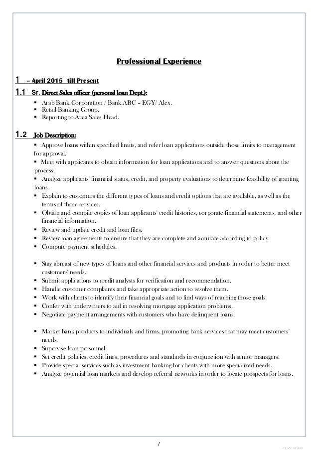 Fantastisch Banking Lebenslauf Proben Bilder - Entry Level Resume ...