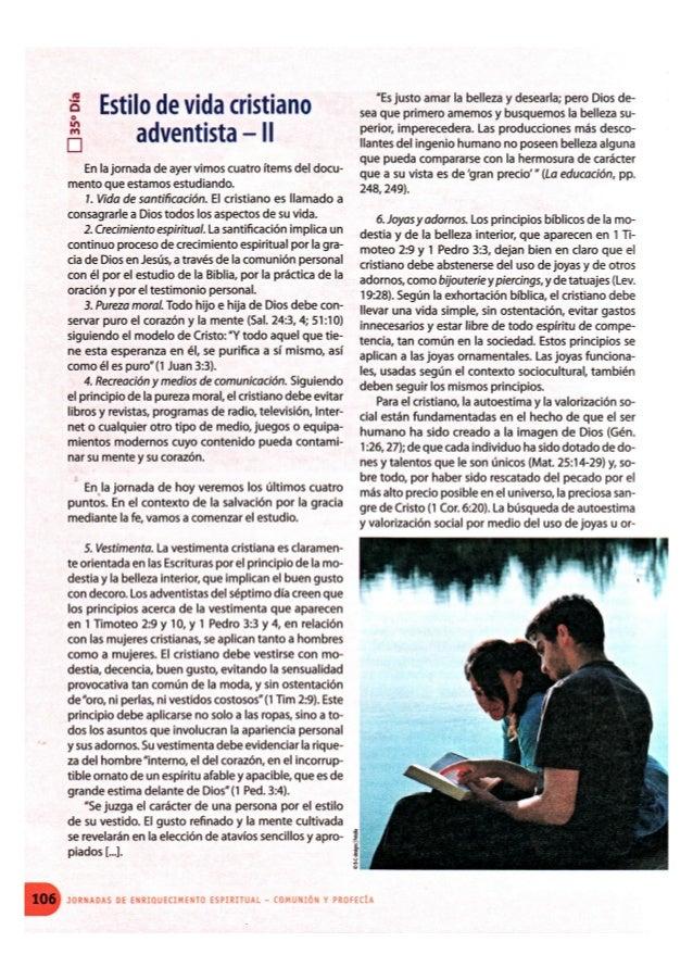 ESTILO DE VIDA CRISTIANO ADVENTISTA - II