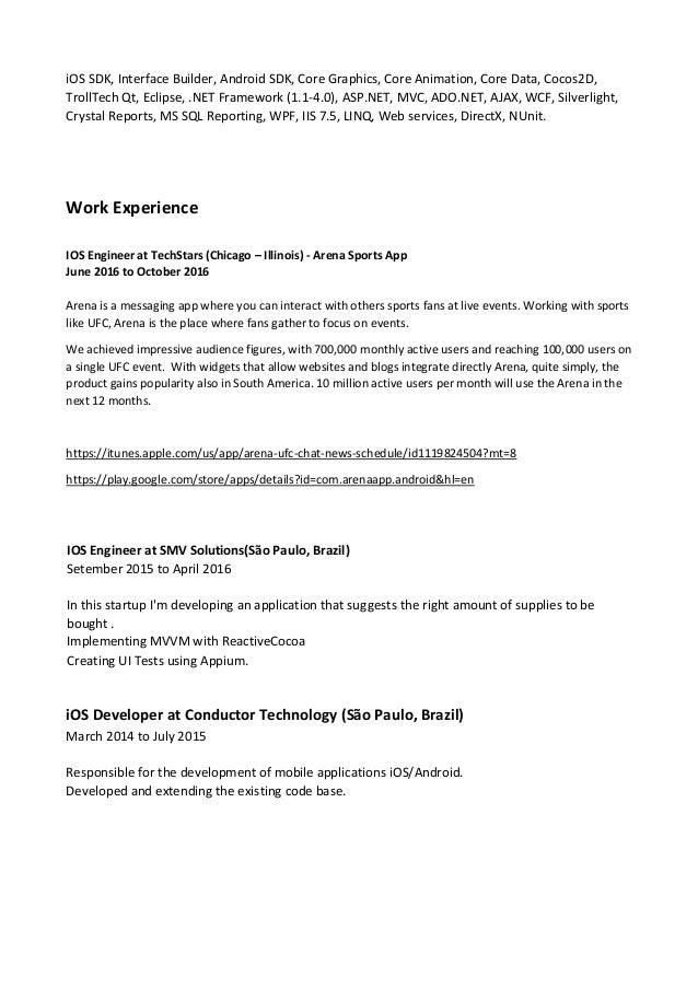 wpf developer resume sample - resume