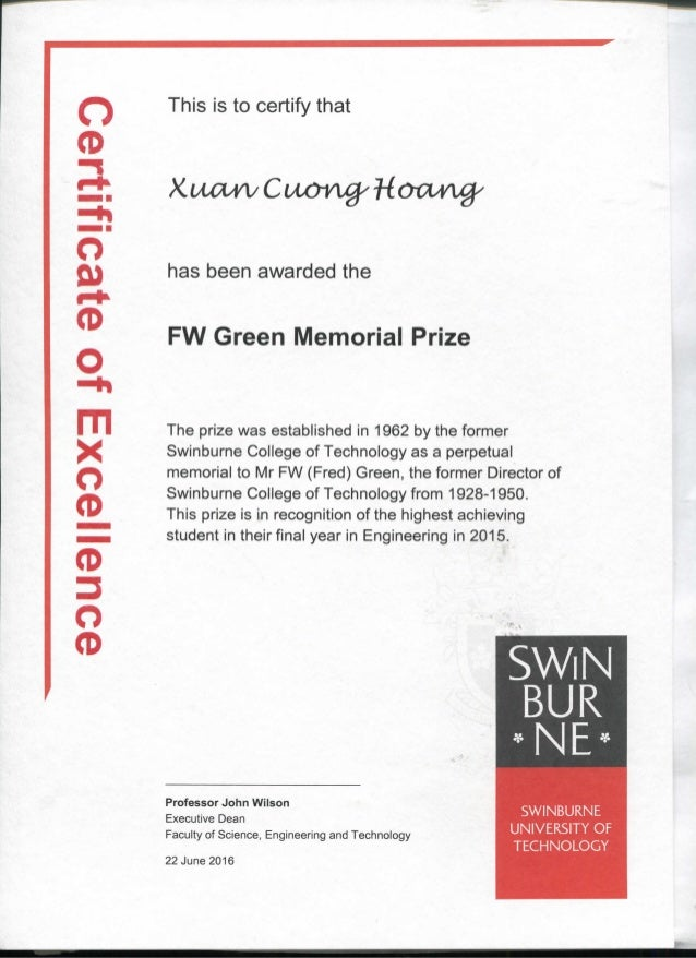 """o0 This is to certify that O ft) CD O rn x o 2. o"""" 3 o CD has been awarded the FW Green Memorial Prize The prize was estab..."""