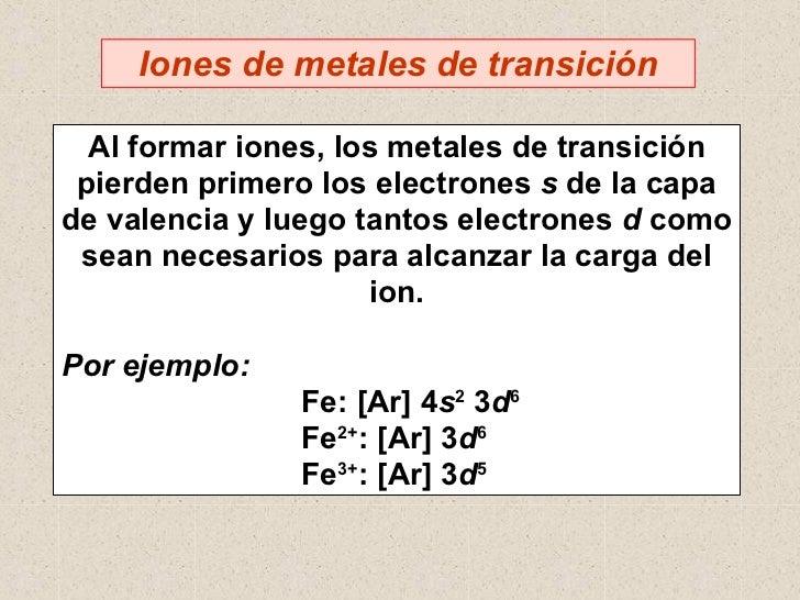 35 metales de transicion i 13 06 05 7 iones de metales urtaz Image collections