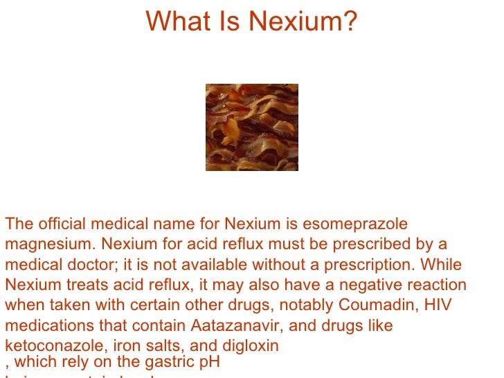 Can You Get Nexium Without A Prescription