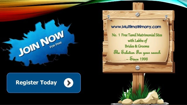 No. 1 FreeTamil Matrimonial Sites withLakhs of Brides & Grooms The Solution For your search – Since 1998