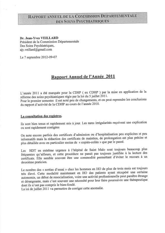 35 rapport activité cdsp 2011