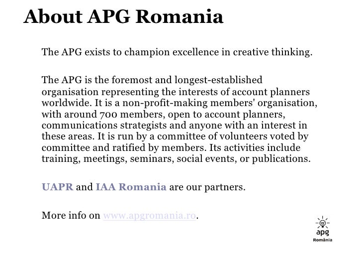 APG Romania: 35 Tricky Questions for Effie Case Studies 2009 Slide 3
