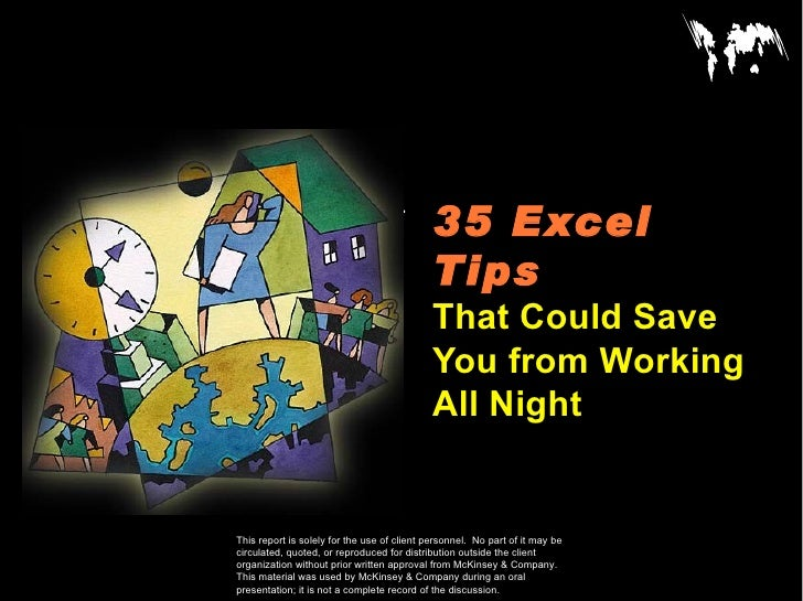 35 Excel CONFIDENTIAL                                                Tips                                              Tha...