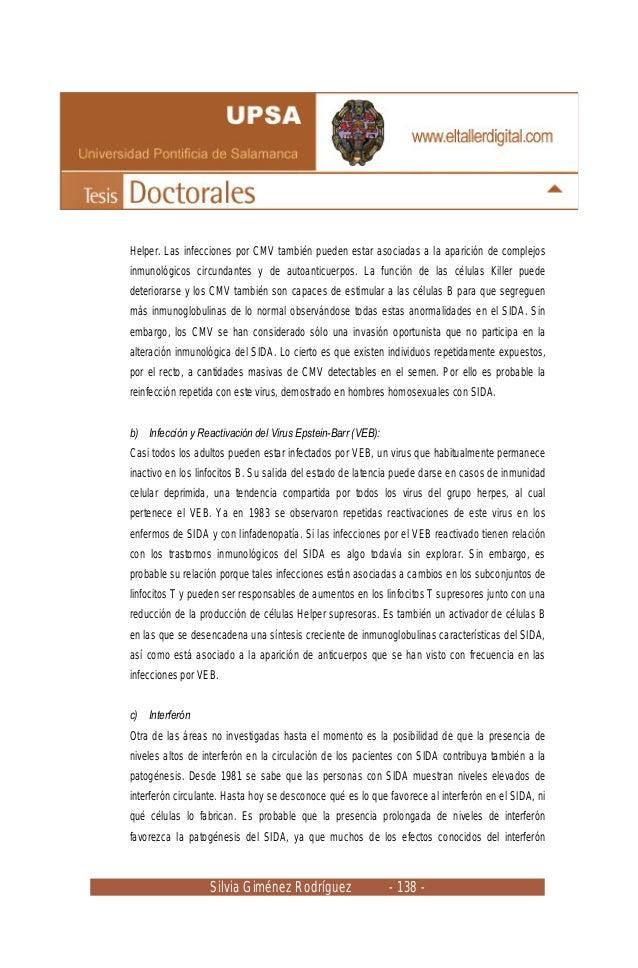 Silvia Giménez Rodríguez - 138 - Helper. Las infecciones por CMV también pueden estar asociadas a la aparición de complejo...