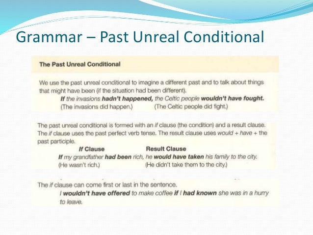 past unreal conditionals exercises pdf