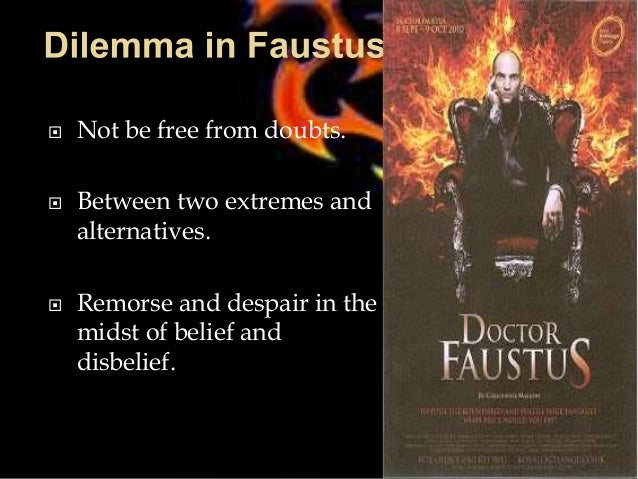 analyzing the tragedy of dr faustus Christopher marlowe's tragical history of doctor faustus, a morality play that  eased the genre into tragedy, proves in its cast of characters why marlowe's no.