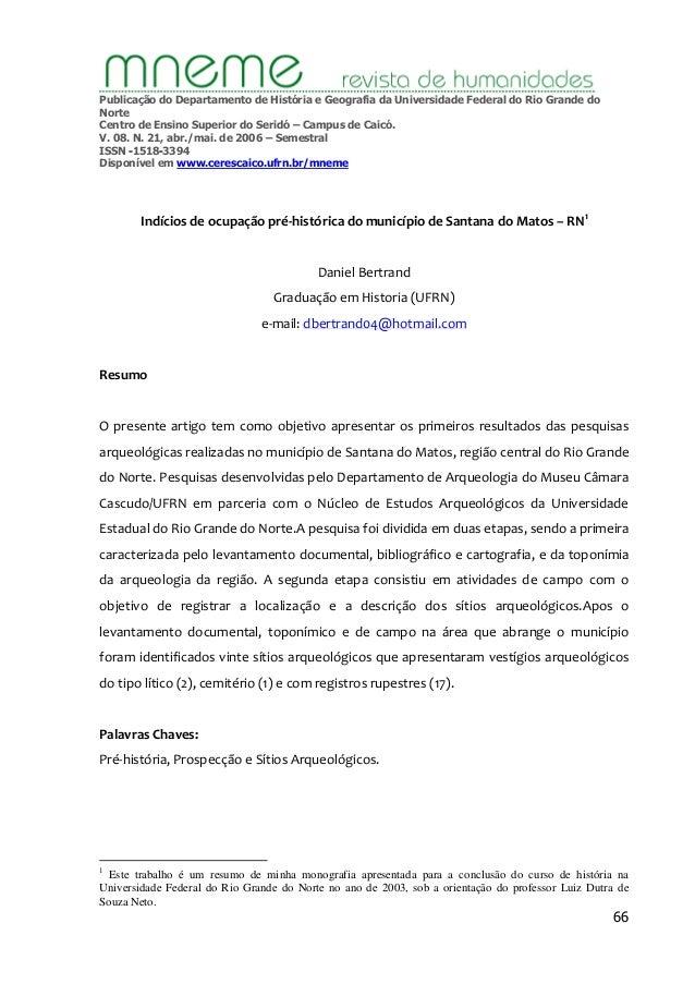 Publicação do Departamento de História e Geografia da Universidade Federal do Rio Grande do  Norte  Centro de Ensino Super...