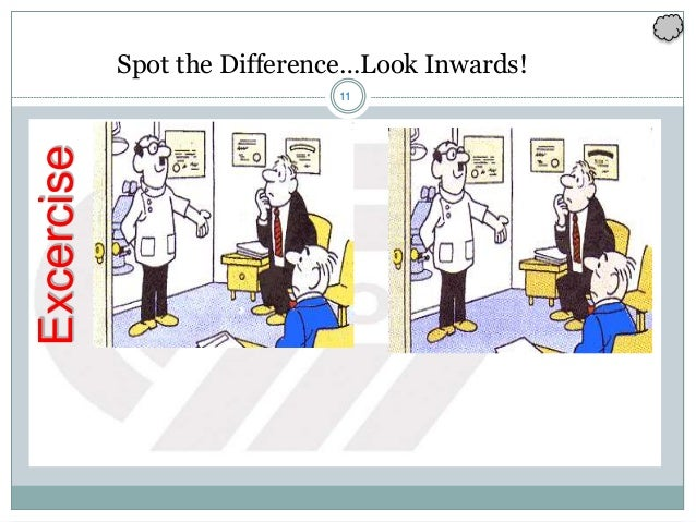 11 Spot the Difference…Look Inwards!Excercise