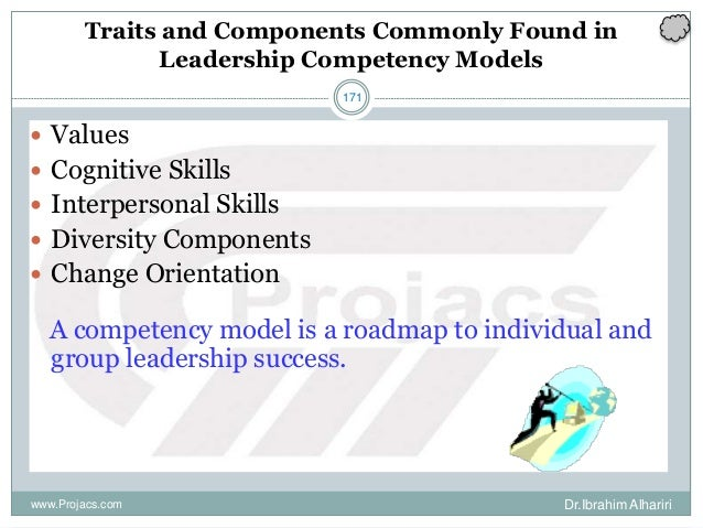 171 Traits and Components Commonly Found in Leadership Competency Models  Values  Cognitive Skills  Interpersonal Skill...