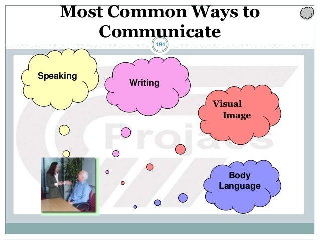 184 Most Common Ways to Communicate Speaking Writing Visual Image Body Language