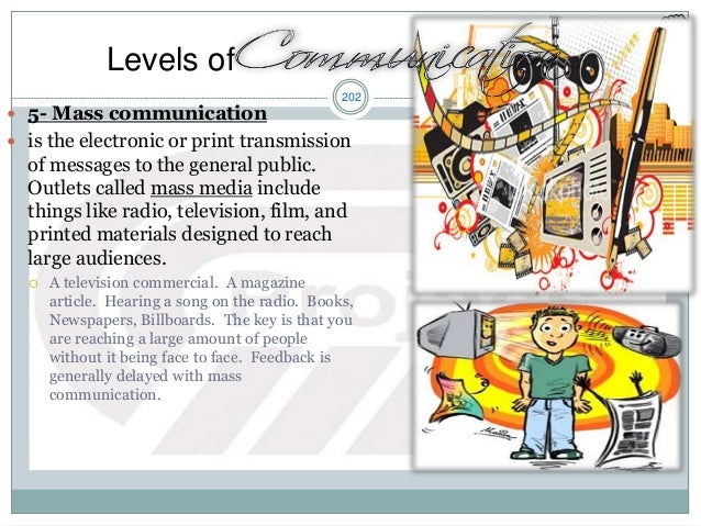 202  5- Mass communication  is the electronic or print transmission of messages to the general public. Outlets called ma...