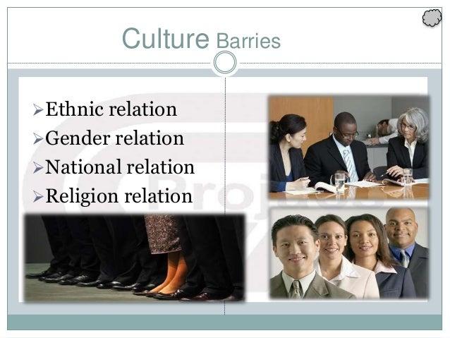 Ethnic relation Gender relation National relation Religion relation Culture Barries