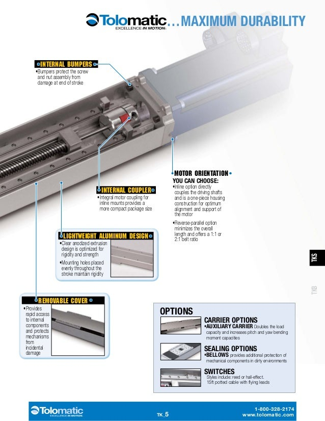 Precision Linear Actuators for XY Tables & Stages: TKS / TKB