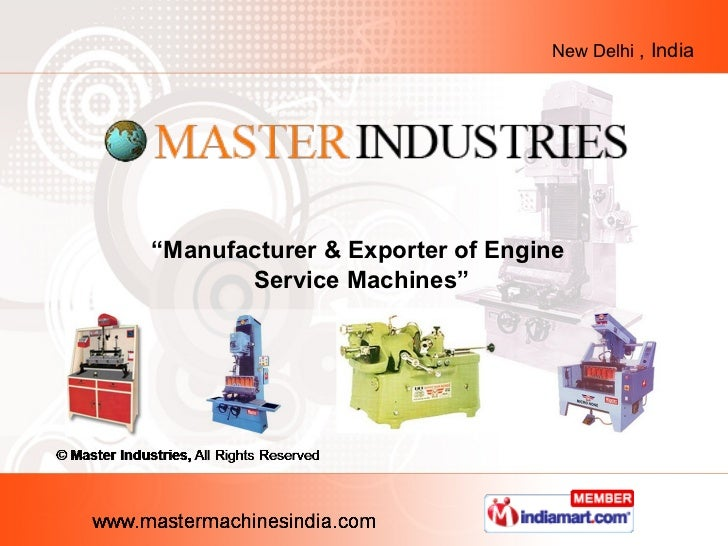 "New Delhi , India""Manufacturer & Exporter of Engine       Service Machines"""