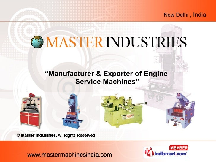 """ Manufacturer & Exporter of Engine  Service Machines"""