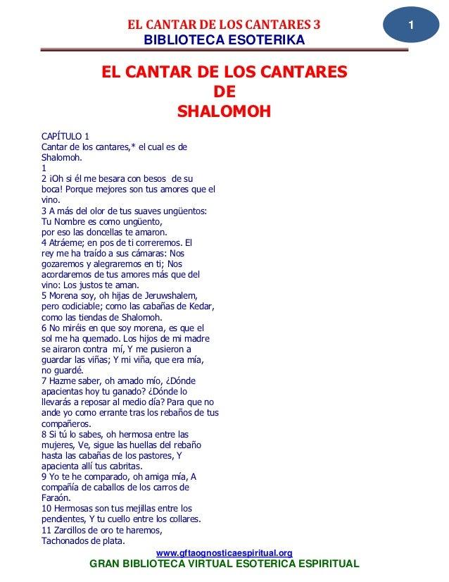 EL CANTAR DE LOS CANTARES 3                 1                      BIBLIOTECA ESOTERIKA              EL CANTAR DE LOS CANT...