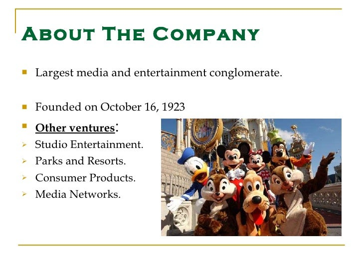 walt disney media conglomerate analysis An analysis of the walt disney company 1 an analysis of the walt disney company kendall forward tele 3310 october 29, 2013 an analysis of the walt disney company 2 overview & history the walt disney company is a leading american diversified multinational entertainment and mass media conglomerate, headquartered in burbank california.
