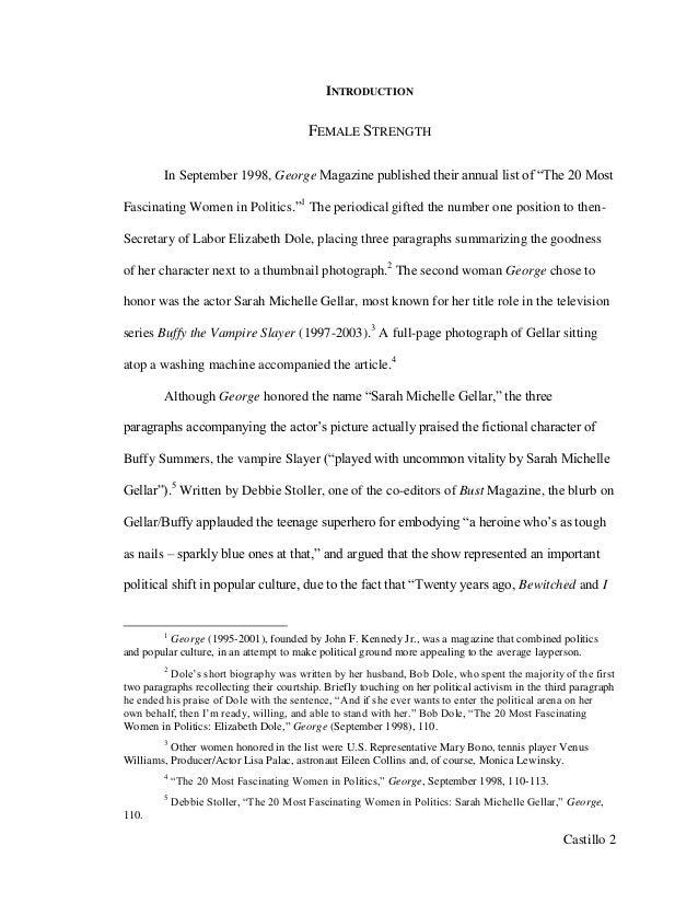 Women empowerment thesis
