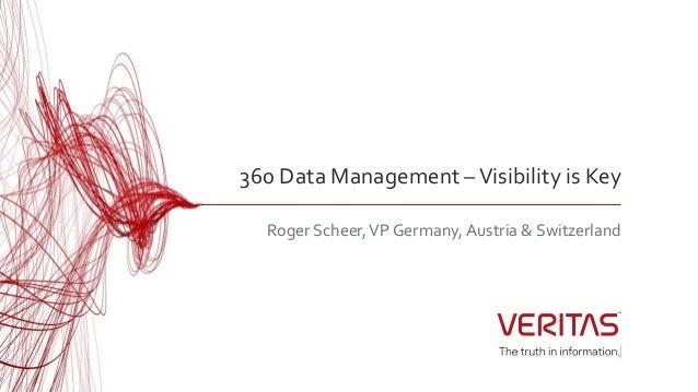 360 Data Management –Visibility is Key Roger Scheer,VP Germany, Austria & Switzerland